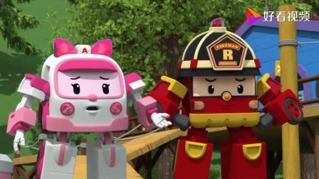 变形警车珀利 生活安全篇 中文版 在游乐园这么玩太危险了,大家千万不要学他们