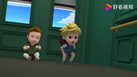 变形警车珀利 生活安全篇 中文版 电梯突然出现故障,三位小朋友被困在里面
