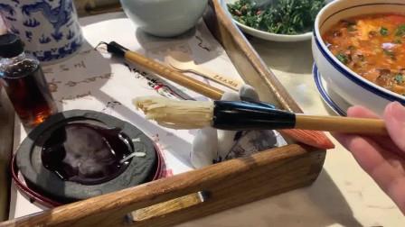 """西安第一网红小吃?竟是一支""""毛笔""""除了造型别致,味道一般。"""