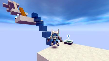 迷你世界:吸血楼梯 用水做的方块 侠客头一次见到就心生畏惧