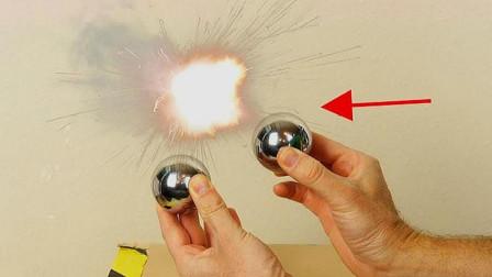 冲击波究竟是什么?用两颗钢球相撞,居然发生了有趣的科学现象!