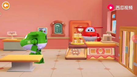 超级飞侠 乐迪蛋糕店 好吃的水果蛋糕做好了 小青快来一会没有了
