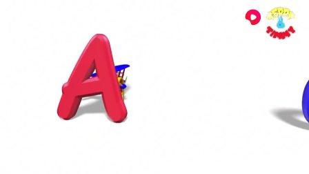 英文益智早教动画,看动画学习认识英文字母ABC和各种单词的动物