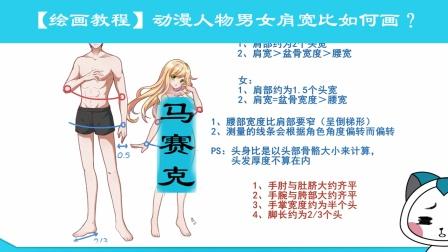 【绘画教程】动漫人物男女肩宽比例绘画技巧讲解.mp4