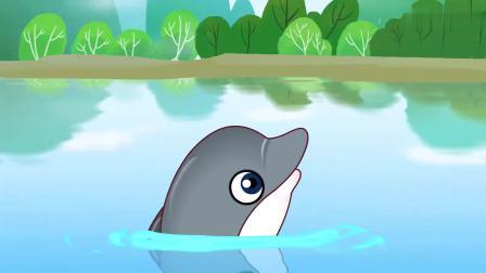 可可小爱:禁止往河里扔垃圾,既造成污染又影响美观,要注意卫生