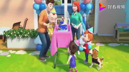 超级宝贝:JOJO过生日,有蛋糕呢,一起庆生真是幸福