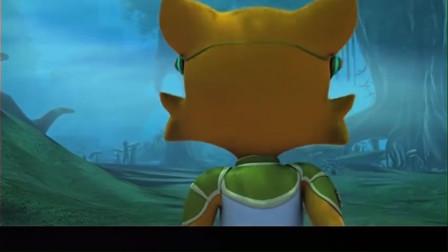 蓝猫龙骑团:九尾狐扔石头,菲菲绊倒炫迪