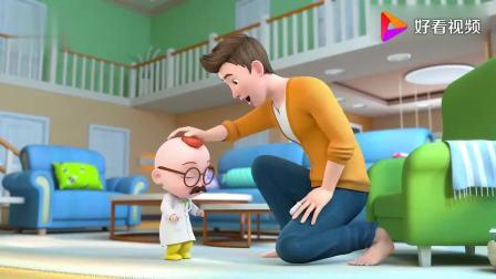 超级宝贝:宝宝扮演小厨师,和妈妈分享饼干呢
