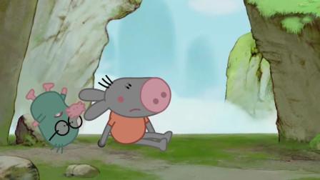 我们的朋友熊小米:啊呜小迪掉下山谷,他们受伤了,他们被困山谷