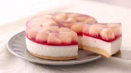 自制桃子乳酪蛋糕,美味极了
