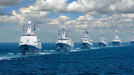 中国海军传来好消息,万吨大驱也开始下饺子,航母编队将成形