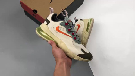 "TRAVIS SCOTT X NIKE AIR MAX 270 V2 REACT ""淡奶油"" 全网首发 开箱"