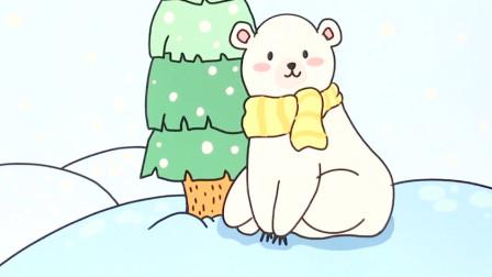 板绘:简笔画北极熊,构图和上色都很简单,适合新手学习