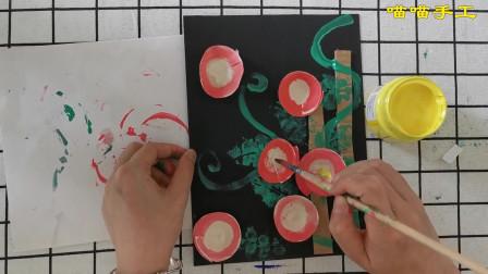 幼儿创意手工牵牛花,少年儿童优秀绘画作品牵牛花,亲子DIY牵牛花,画面精美栩栩如生