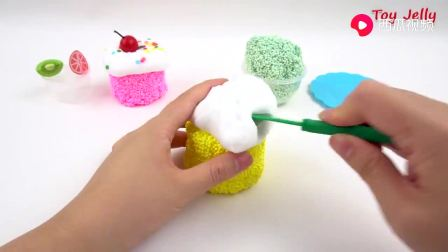 儿童益智早教玩具微波炉制作彩色冰淇淋筒,玩游戏学颜色