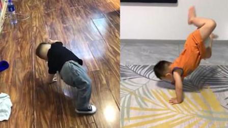 太逗了!2岁萌娃穿着纸尿裤跳街舞,网友:穿纸尿裤的舞林高手