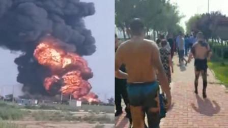 官方通报东营港停车场油罐车爆炸:致7人受伤