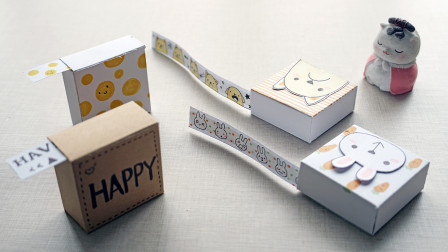 自制带抽盒的手账胶带,随时用随时取,简单又方便