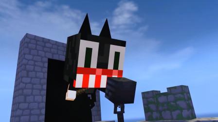 我的世界动画-#怪物学院#-卡通猫版跑酷