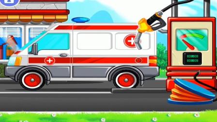 警车消防车轮船去加油站遇到了新武器结果?