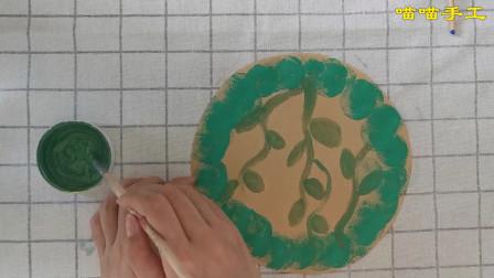 儿童创意画草莓花环,小学生精美手工作品,亲子DIY草莓花,栩栩如生的大红草莓色泽艳丽超级好看