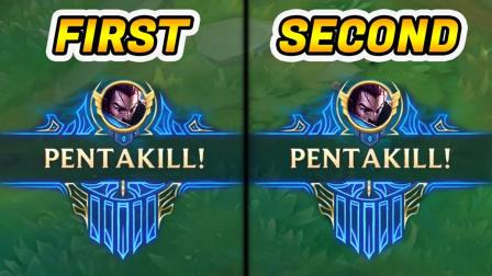 LOL:精彩五杀集锦,一场比赛双五杀是什么感觉?
