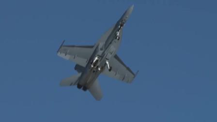 波音战机主力军F/A-18,发动机轰鸣声震耳欲聋