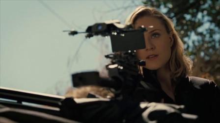 高科技狙击枪用无人机多目标锁定,女主精准射!