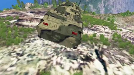 车祸模拟器:蟑螂车从山顶冲了下去