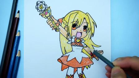儿童创意简笔画:手绘《巴啦啦小魔仙》Q版可爱的小蓝,萌萌哒