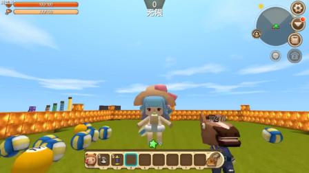 忆涵游戏:迷你世界测试服菠萝手雷PK罐装手雷,汤米清水做试验品