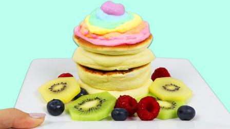 制作美味的彩色舒芙蕾松饼