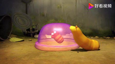 爆笑虫子:小红被困在布丁里,小黄吃布丁救它,吃的肚子都大了