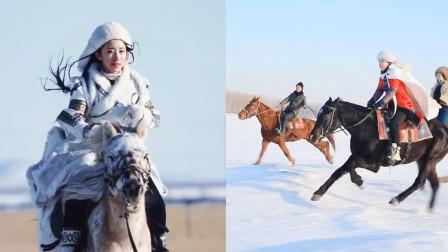 享受大自然的辽阔!美女小姐姐草原骑马,风驰电掣策马奔腾!