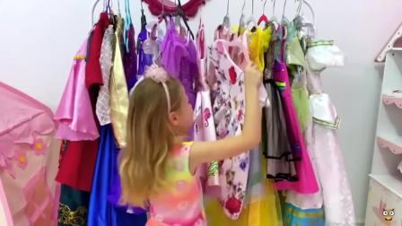 国外儿童时尚,小女孩爱漂亮的裙子,笑得好开心