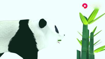 益智早教卡通片,少儿学颜色,熊猫吃掉不同的竹子后