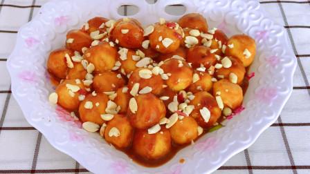 红薯糕面丸子的简单做法,香甜软糯又营养,超级好吃