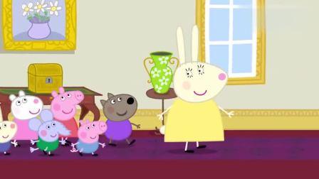 小猪佩奇:佩奇和兔小姐总算见到女王,兔小姐为什晕倒了,好奇怪