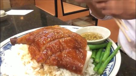 香港烧鹅髀饭套餐92,味道和价格对应,但一条青菜都无!