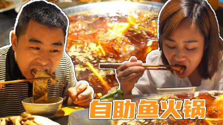 超小厨做围栏搭小院,媳妇请客32元一位自助火锅鱼,今天敞开了吃