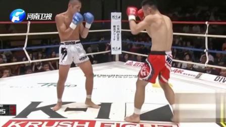 武林风:世界冠军王鹏飞,对抗日本搏击选手,拳法依旧了得