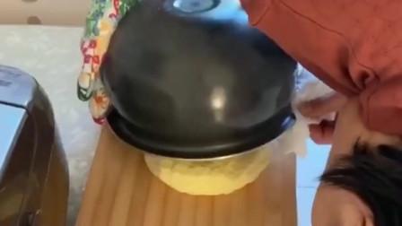 老婆第一次用电饭煲做蛋糕,表面看起来很成功,可惜结局让人失望!