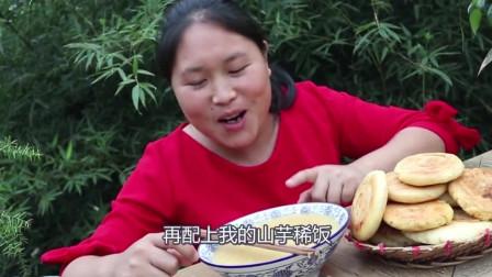 香酥饼这样烹饪咬一口唇齿留香,胖妹配上一碗稀饭吃得真香啊