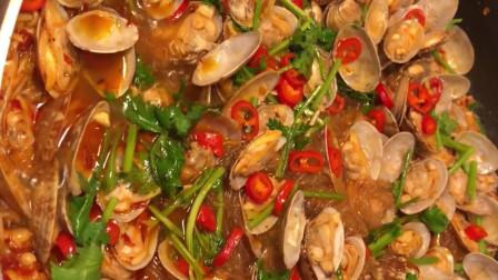 金针菇粉丝烧花甲,香辣解馋,做法非常简单
