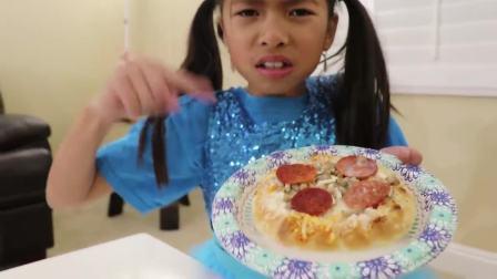 国外儿童时尚,小萝莉用蔬果制作冰淇淋,你想吃吗