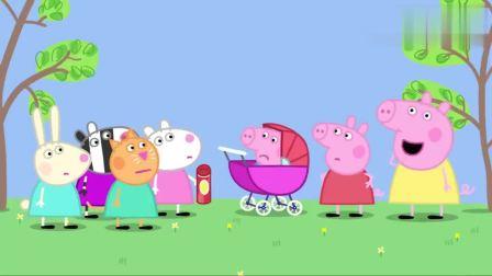 小猪佩奇:小羊苏西带了饼干,不过佩奇不让乔治吃,乔治哭了!