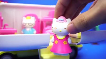 Hello Kitty郊游野餐车凯蒂猫玩具