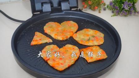 土豆饼最简单的做法,金黄酥脆,咸香软糯