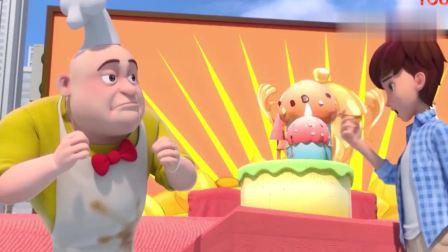 三只松鼠:果果尝了口食物,一下子就尝出,蛋糕是用什么做的