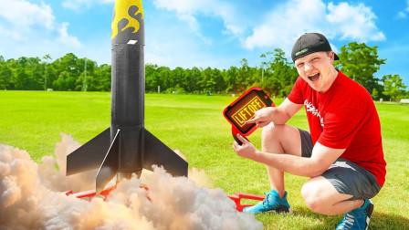 """老外发起""""火箭发射""""游戏比赛,谁的火箭发射最快,即奖励1000美元!"""
